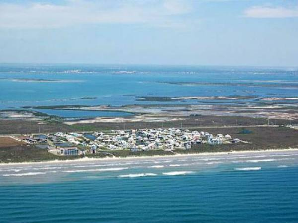 Port Aransas View from the Gulf of Mexico