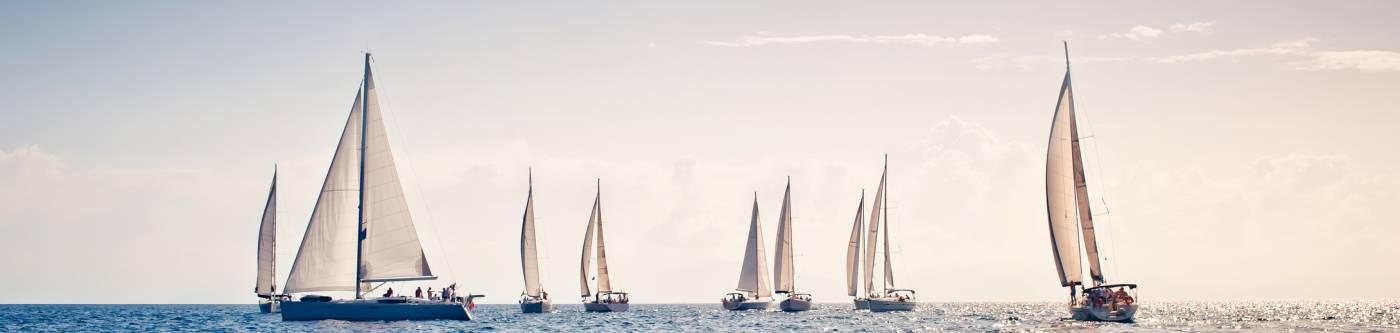 Sail boats during the Harvest Moon Regatta