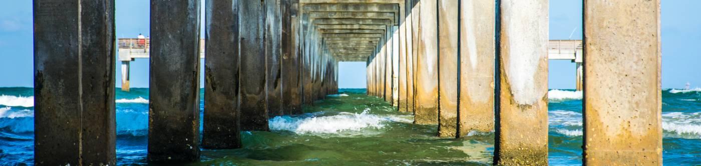 A pier near Port Aransas